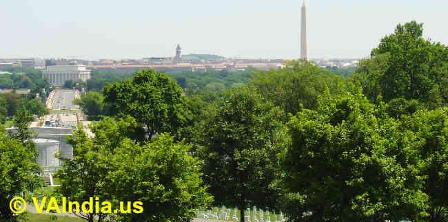 View of Washington D.C. from Arlington Memorial, VA image © VAIndia.us