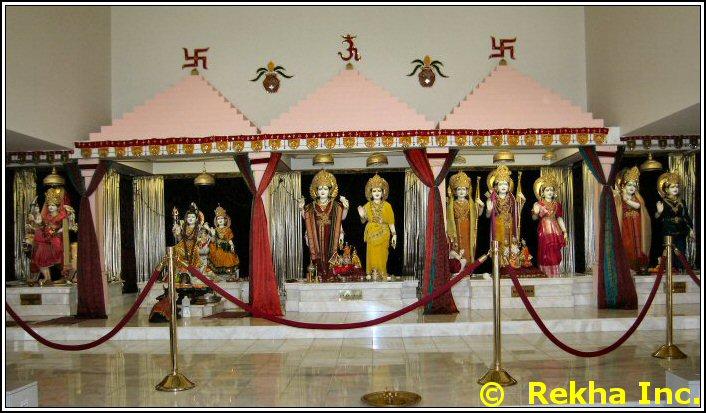 deities at rajdhani mandir image &copy VAIndia.us