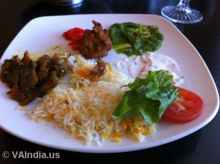 Indian Ocean Centreville Veg Food © VAIndia.us