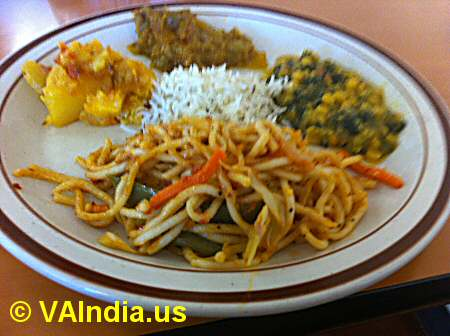 Rasoi of India Noodles, Veg Entrees © VAIndia.us