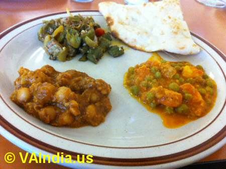 Rasoi of India Veg Entrees © VAIndia.us