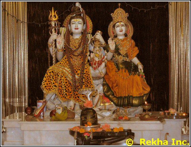 shiva parvati ganesh rajdhani mandir image &copy VAIndia.us