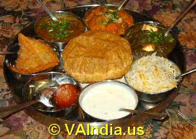 Vegetarian Thali Virginia © VAIndia.us